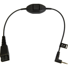Jabra Quick Disconnect (QD) to 2.5 mm Jack Cord, with Push-To-Talk